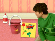 Blue's Clues Pail with Collage