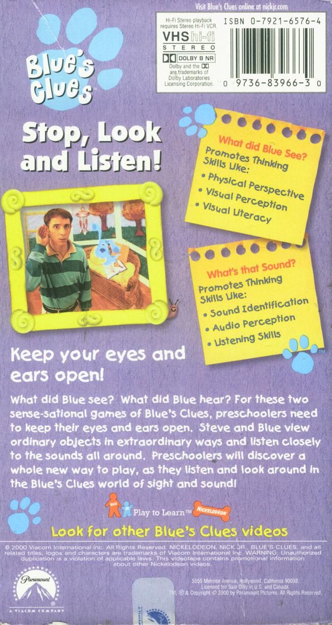 stop look and listen blue u0027s clues wiki fandom powered by wikia