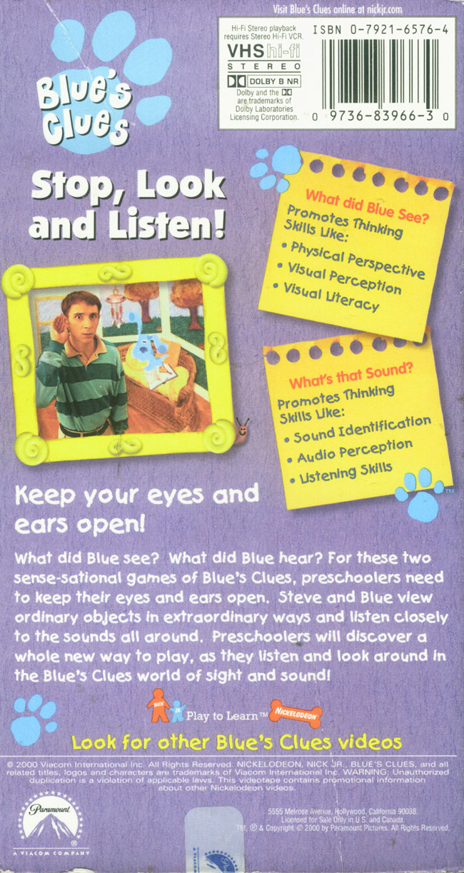 Stop Look And Listen Blue S Clues Wiki Fandom