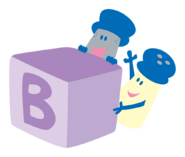 Blue's Clues Mr. Salt and Mrs. Pepper with Block