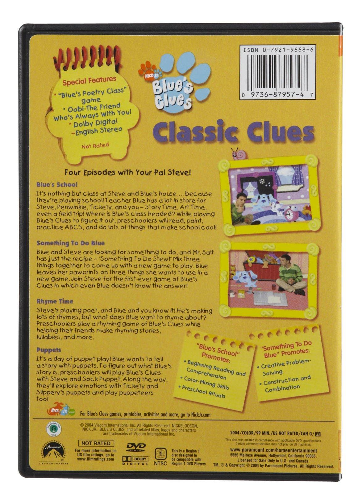 classic clues blue u0027s clues wiki fandom powered by wikia