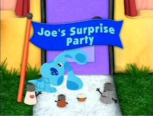 Joe's Surprise Party Title Card