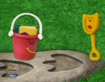 Prehistoric Blue Shovel and Pail