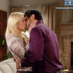 Brill's passionate kiss
