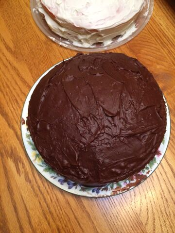 File:My 19th birthday chocolate cake with frosting.jpeg