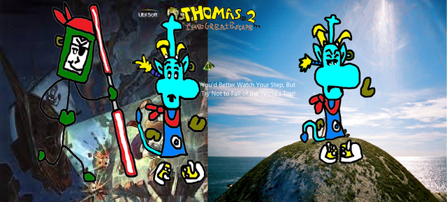 File:Thomas 2 - The Great Escape! - Part 11 - You'd Better Watch Your Step, Or Else You'll Fall Off The World's Top!.png