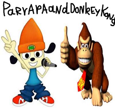 Parappa and Donkey Kong.