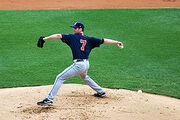 250px-John Maine pitching for the Binghamton Mets