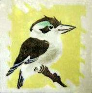 Kookaburra Dunsmore Tiles Polly Brace c1930 Minton Blank