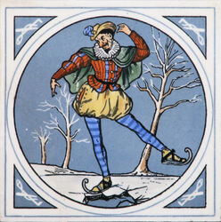 Minton Hollins & Co - Humourous Sporting Scenes - Skating - 8inch