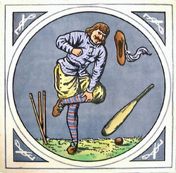 Minton Hollins & Co - Humourous Sporting Scenes - Cricket - 8inch