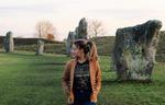Sarah Jeffrey with Led Zeppelin shirt