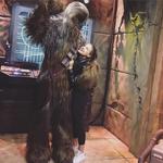 Sarah Jeffrey with Chewie