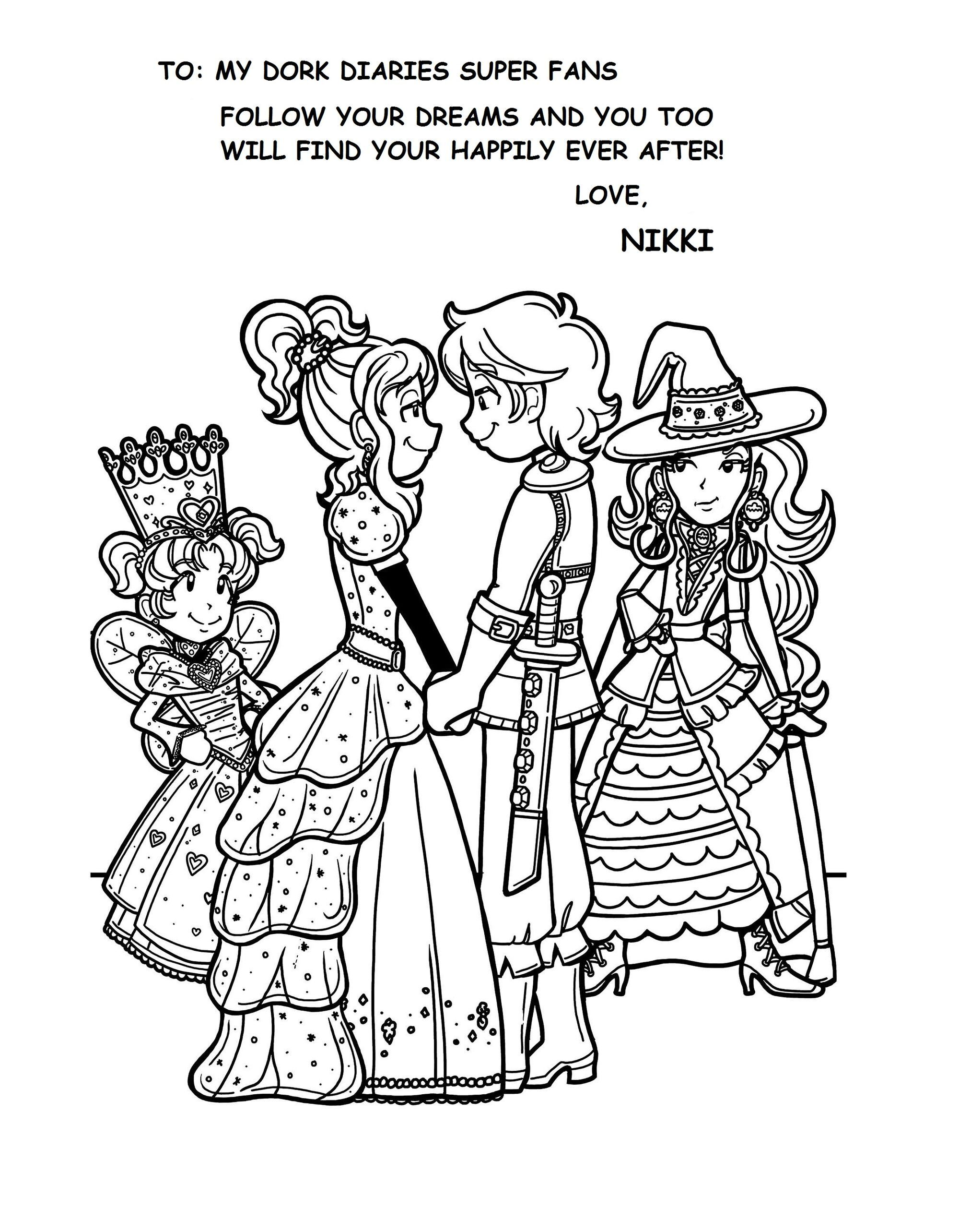 Coloring pages for dork diaries - Special Edition Dork Diaries Book 8 Fan Art1