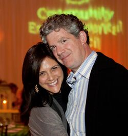 Les Firestein & wife Gwyn Lurie