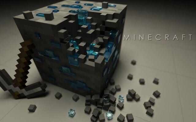 File:Minecraft Diamond Ore Real.jpg