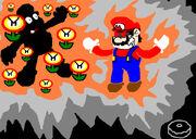 Mario just got FIRE FLOWER D by Donutman08