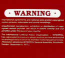 Canadian Warning Screens
