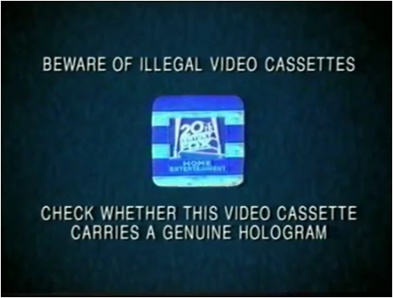 File:20th Century Fox Home Entertainment Illegal Video Cassettes (2000) Hologram.png