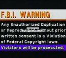Various Warning Screens