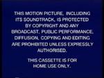 Buena Vista 1995 Warning Screen