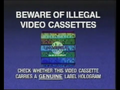CIC Video Piracy Warning (1993) (Universal) Hologram