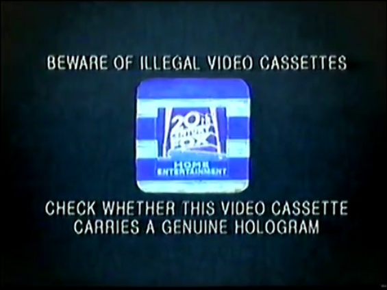 File:20th Century Fox Home Entertainment Illegal Video Cassettes (1997) Hologram.png