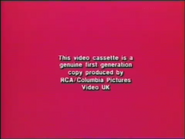 RCA-Columbia Pictures International Video Warning (1984) (S1)