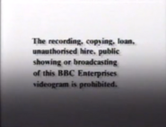BBC Video Warning (1988) (WHSmith Variant) (Opening)