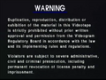 Alpha Records Warning Screen 1