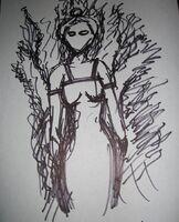 Burning woman 01