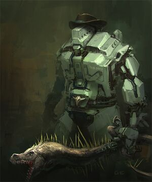 Robotcowboywithdinosword