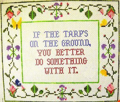 Tarp needlepoint