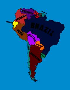 South American map by Italian Mapper