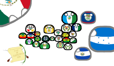Polandball Guatemala Map