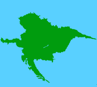 Made up of Croatia, Austria, Hungary, Czechoslovakia and parts of Romania.