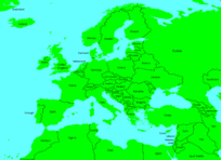 Present Europe's map