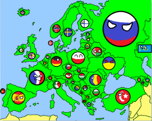 Europe Map Country Ball
