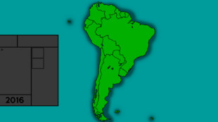 South American map of Finn mapper Customized