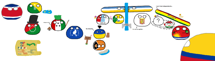Polandball Panama map