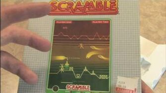 CGR Packaging Review - SCRAMBLE for Vectrex box, packaging and overlay