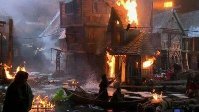 Lake town burn