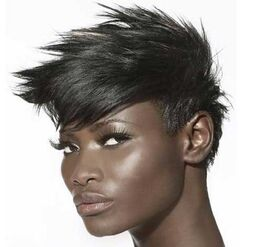 Spiky-hair-for-black-women