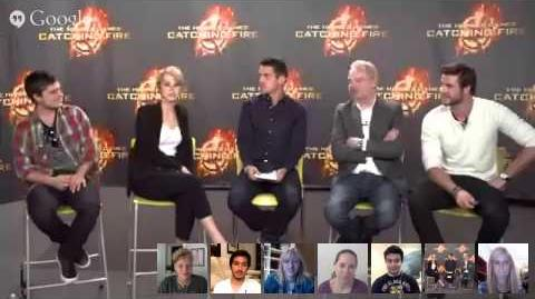 The Hunger Games Catching Fire - Global Google Hangout