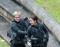 Josh and jen on set 2