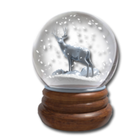 Snowglobe silver