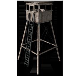 Deployable hunting tower wood