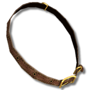 Dog collar leather brown