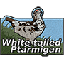 White-tailed ptarmigan badge