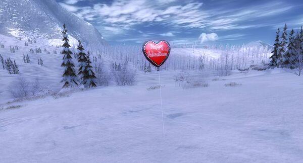 Collectable valentines balloon hematite